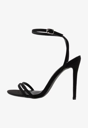 DOUBLE STRAP BARELY THERE  - High Heel Sandalette - black