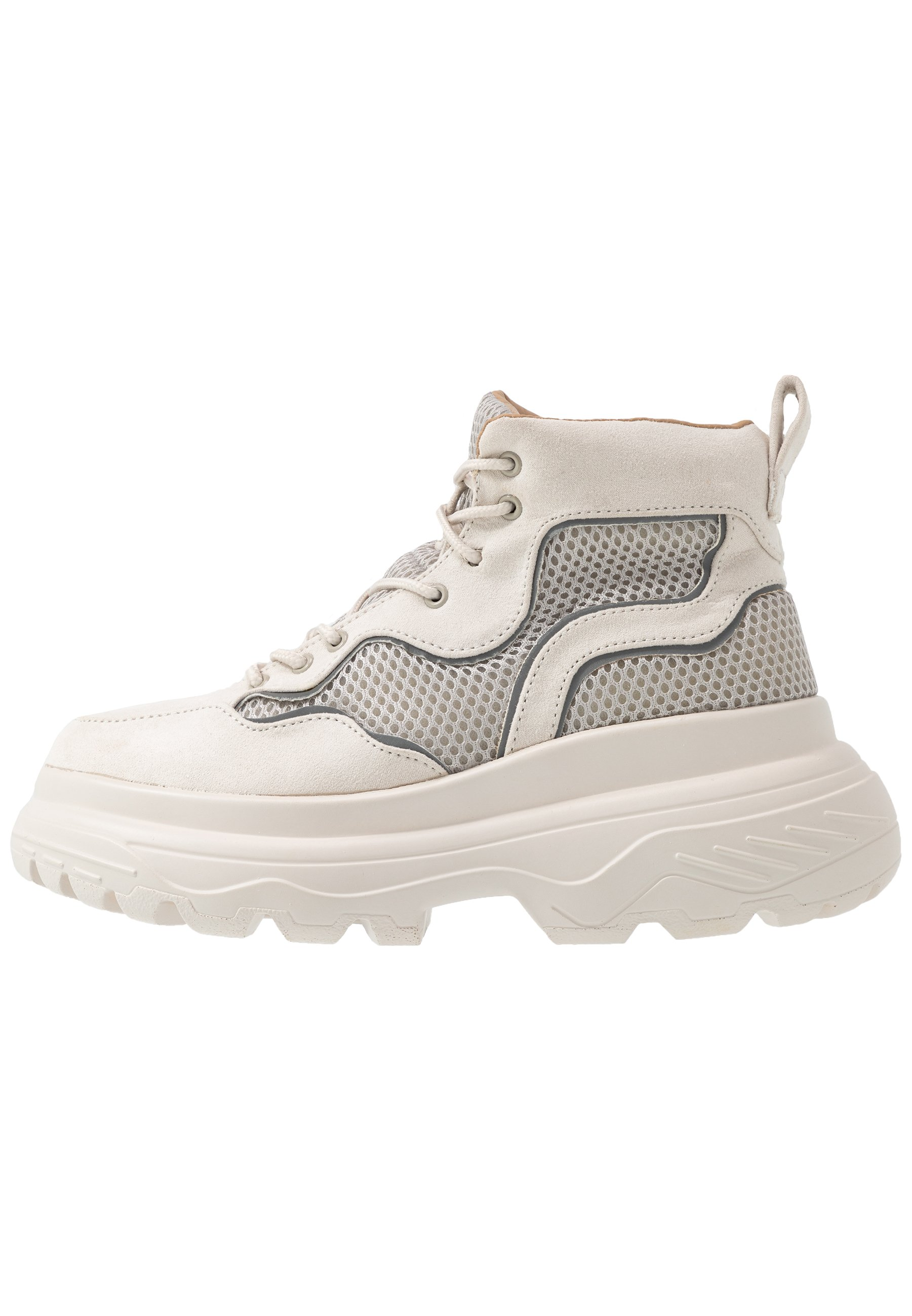 Missguided TRAINER - Sneakersy wysokie - stone