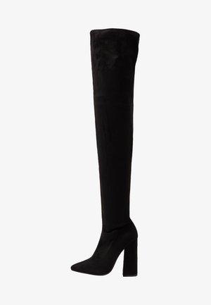 BLOCK BOOT - High heeled boots - black