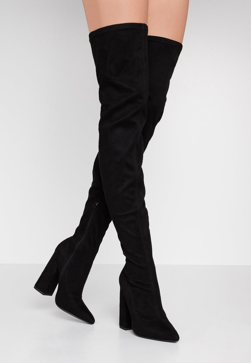 Missguided - BLOCK BOOT - High heeled boots - black
