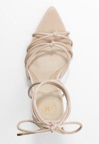 Missguided - POINTED TOE MINIMAL STRAP BARELY THERE - Sandaler med høye hæler - nude - 3