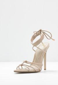 Missguided - POINTED TOE MINIMAL STRAP BARELY THERE - Sandaler med høye hæler - nude - 4