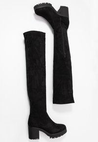 Missguided - CHUNKY HEEL BOOT - Over-the-knee boots - black - 3