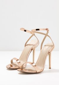 Missguided - BASIC BARELY THERE - High heeled sandals - rose gold metallic - 4