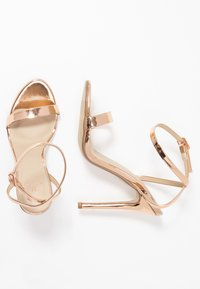 Missguided - BASIC BARELY THERE - High heeled sandals - rose gold metallic - 3