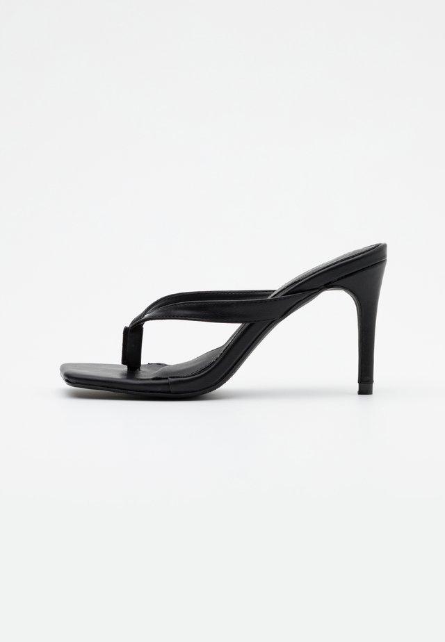 MID HEEL - High heeled sandals - black