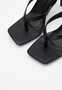 Missguided - MID HEEL - High heeled sandals - black - 5