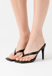 Missguided - MID HEEL - High heeled sandals - black - 0
