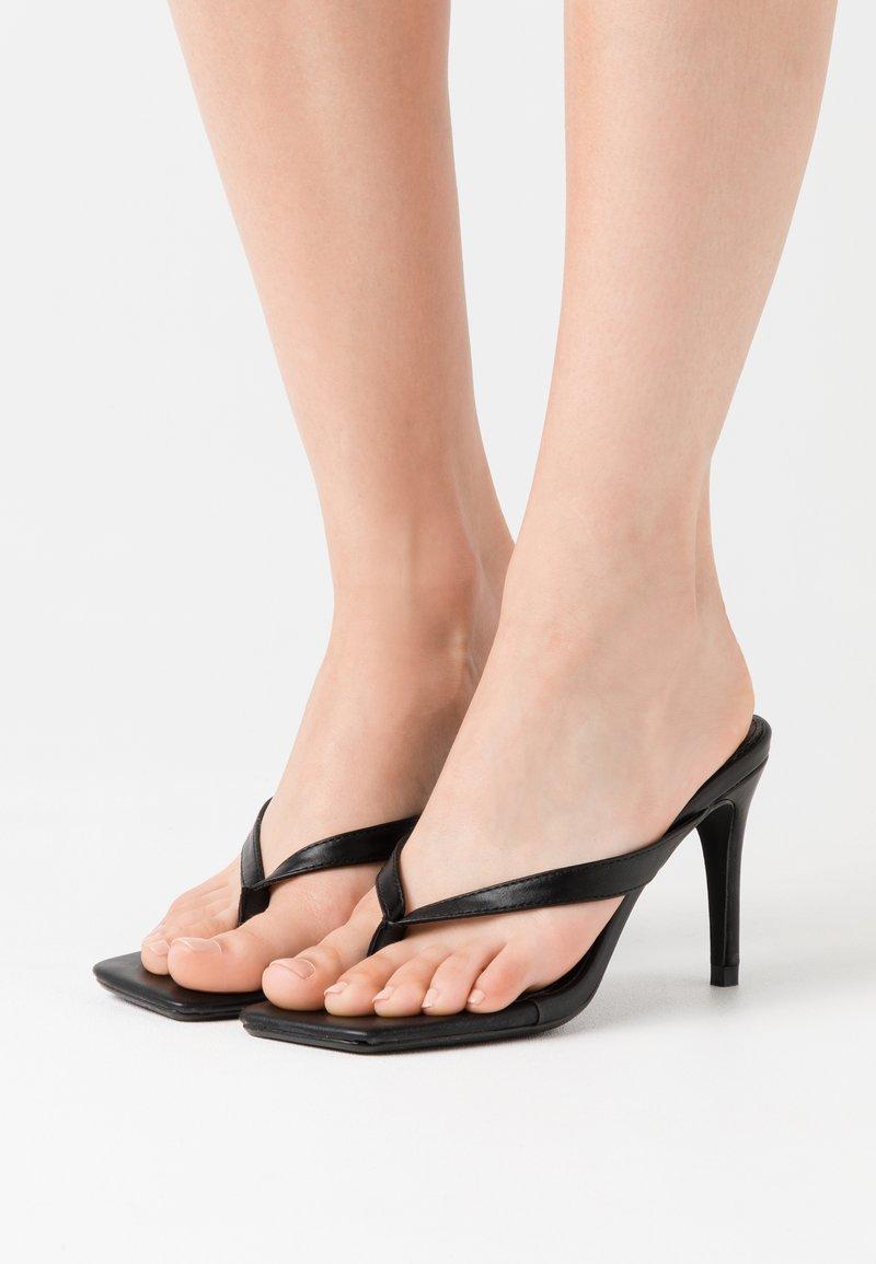 Missguided - MID HEEL - High heeled sandals - black