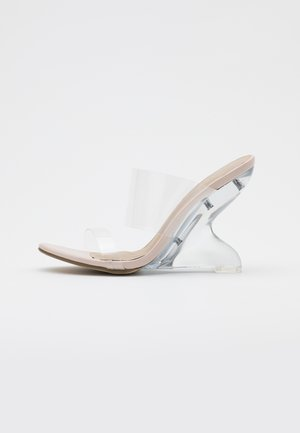 EXTREME CURVE CLEAR WEDGE - Sandaler - nude