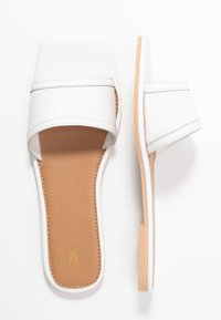 Missguided - SQUARE TOE SIMPLE STRAP FLAT  - Slip-ins - white - 3