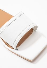 Missguided - SQUARE TOE SIMPLE STRAP FLAT  - Slip-ins - white - 2