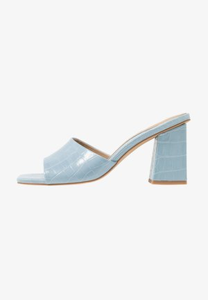CHUNKY SQUARE FRONT MULE - Ciabattine - blue