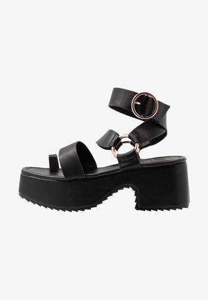 THICK SOLE RING  - Platåsandaler - black