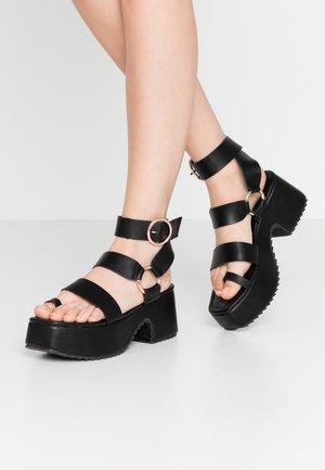 THICK SOLE RING  - Platform sandals - black