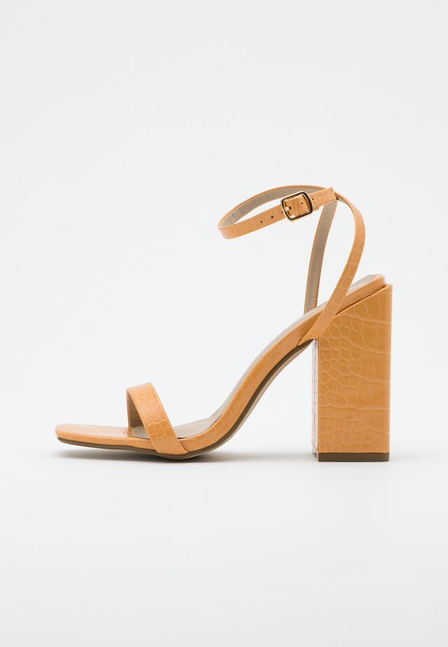 CHUNKY BLOCK BARELY - High heeled sandals - orange