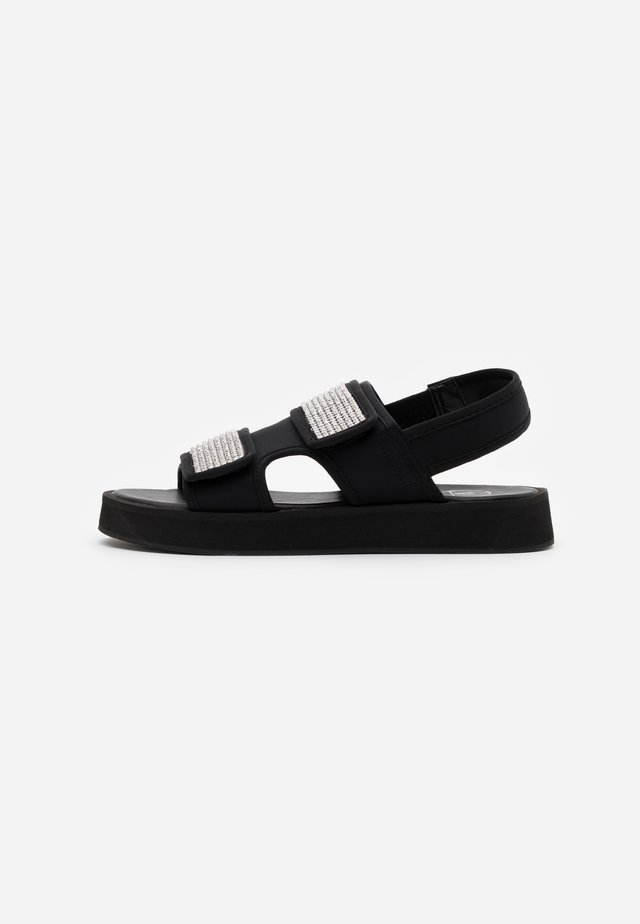DIAMANTE GRANDAD - Platform sandals - black