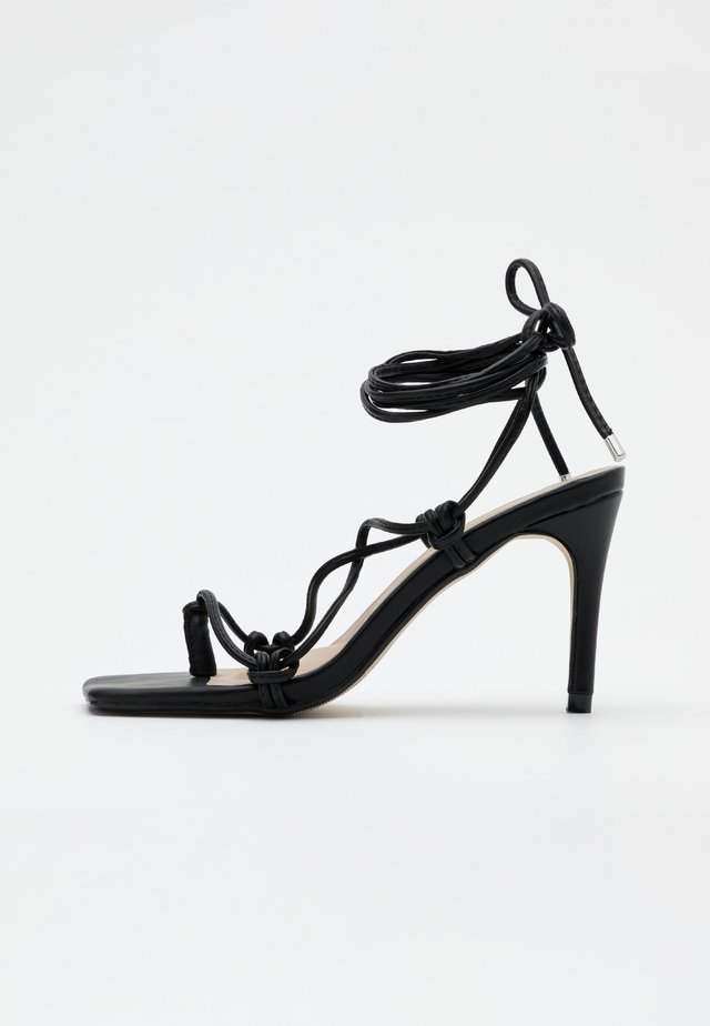 EXTREME SQUARE STRAPPY MID - High heeled sandals - black