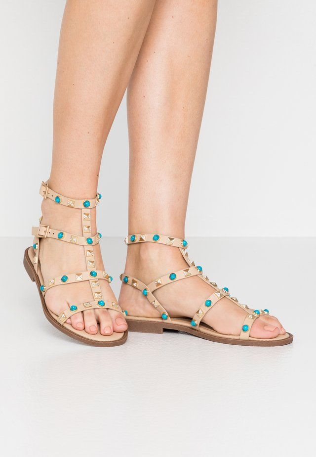 BEJEWELLED GLADIATOR - Sandals - taupe