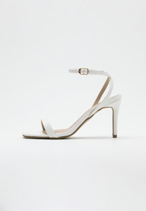 MID BARELY THERE FLOW - Sandalen met hoge hak - white