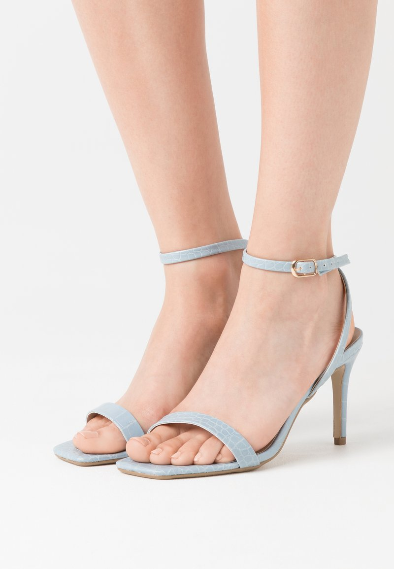 Missguided - MID BARELY THERE FLOW - High heeled sandals - blue