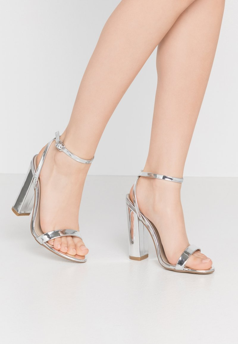 Missguided - ENTRY BLOCK - High heeled sandals - silver