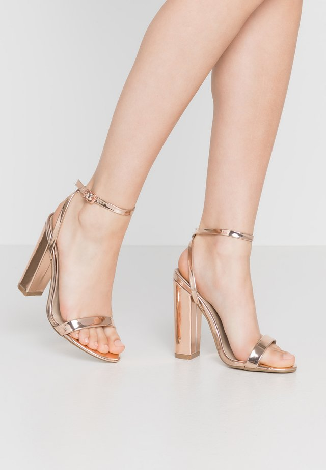 ENTRY BLOCK - High heeled sandals - rose gold