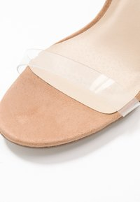 Missguided - STILETTO HEEL CLEAR BARELY THERE - High heeled sandals - nude