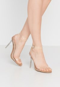 Missguided - STILETTO HEEL CLEAR BARELY THERE - High heeled sandals - nude - 0