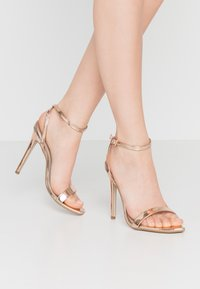 Missguided - POINTED TOE BARELY  - High heeled sandals - rose gold - 0