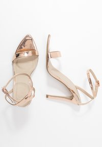 Missguided - POINTED TOE BARELY  - High heeled sandals - rose gold - 3
