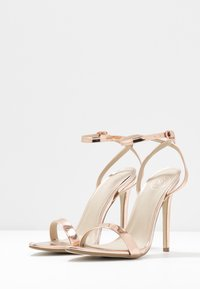 Missguided - POINTED TOE BARELY  - High heeled sandals - rose gold - 4