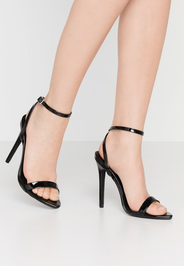 POINTED TOE BARELY  - High heeled sandals - black
