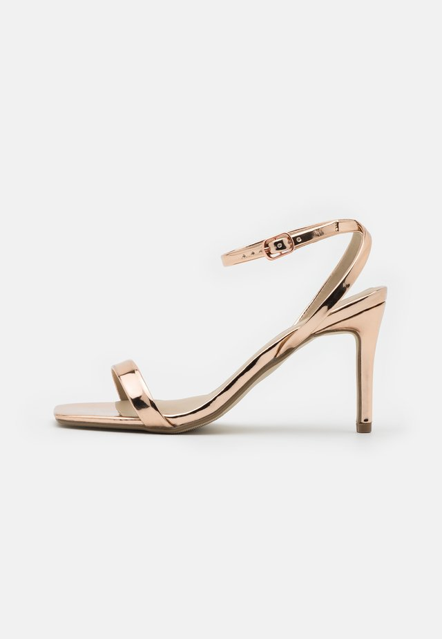 BARELY THERE  - Sandály na vysokém podpatku - rose gold