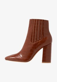 Missguided - COVERED GUSSET - High heeled ankle boots - brown - 1