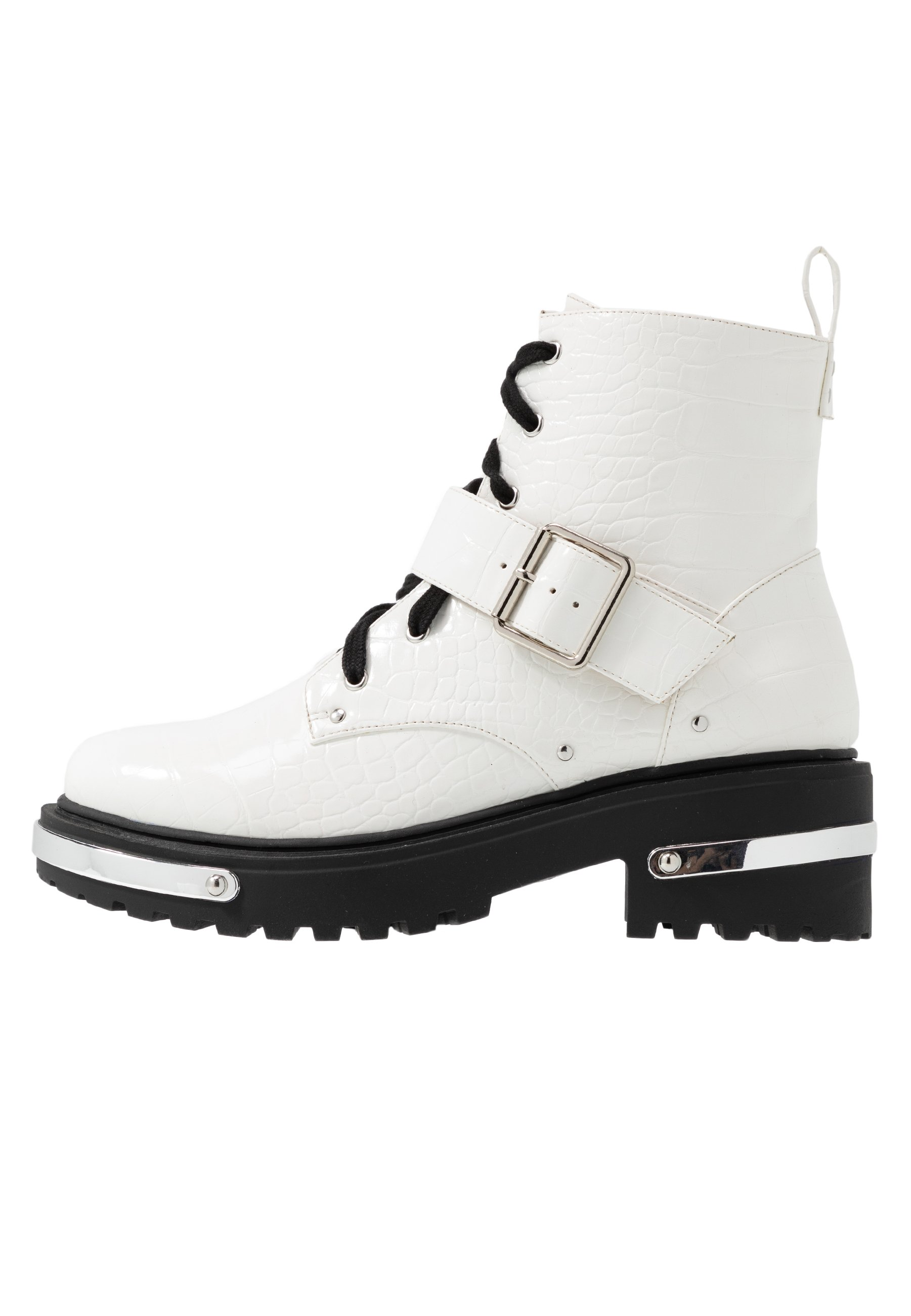 Missguided Detail Hiking Boot - Bottines À Plateau White