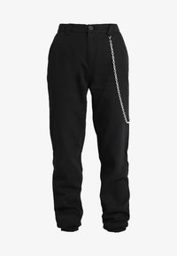 Missguided - CHAIN DETAIL CARGO TROUSERS - Pantalon cargo - black - 5