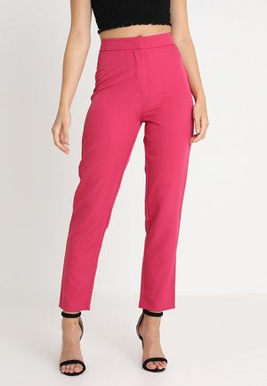 TAILORED CIGARETTE TROUSERS - Broek - fuschia