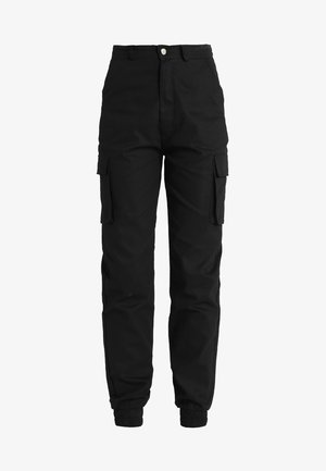 PLAIN CARGO TROUSER - Bukse - black