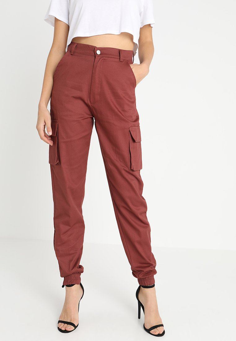 Missguided - PLAIN CARGO TROUSERS - Stoffhose - rust