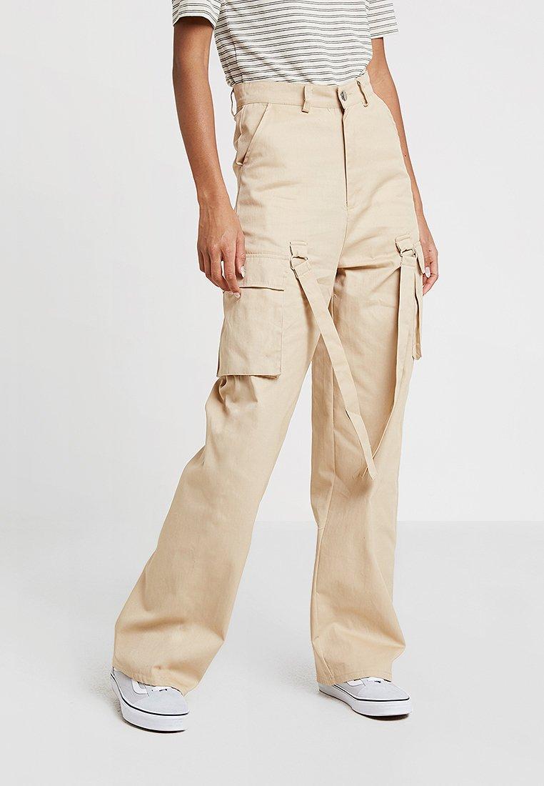 Missguided - UTILITY TROUSER - Pantalon classique - sand
