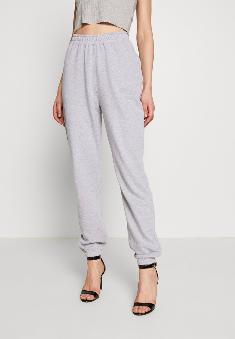 Missguided - SIGNATURE BASIC - Pantalon de survêtement - grey