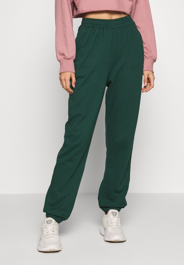 SIGNATURE BASIC - Pantalon de survêtement - dark green