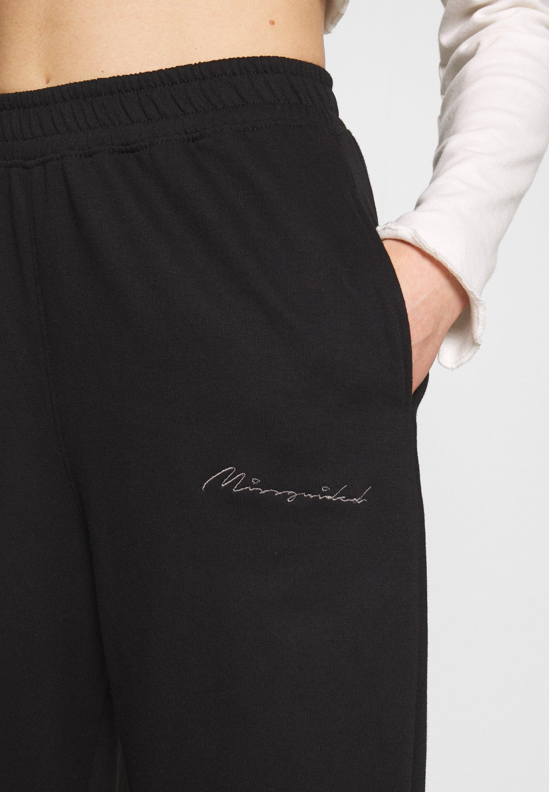 Missguided SIGNATURE BASIC - Spodnie treningowe - black