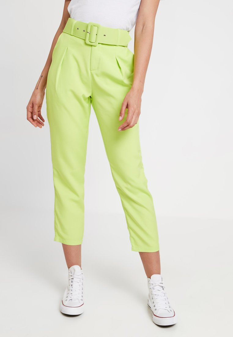 Missguided - SELF CIGARETTE TROUSER - Stoffhose - lime