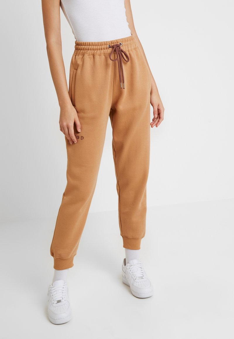 Missguided - LOOPBACK JOGGERS - Tracksuit bottoms - camel