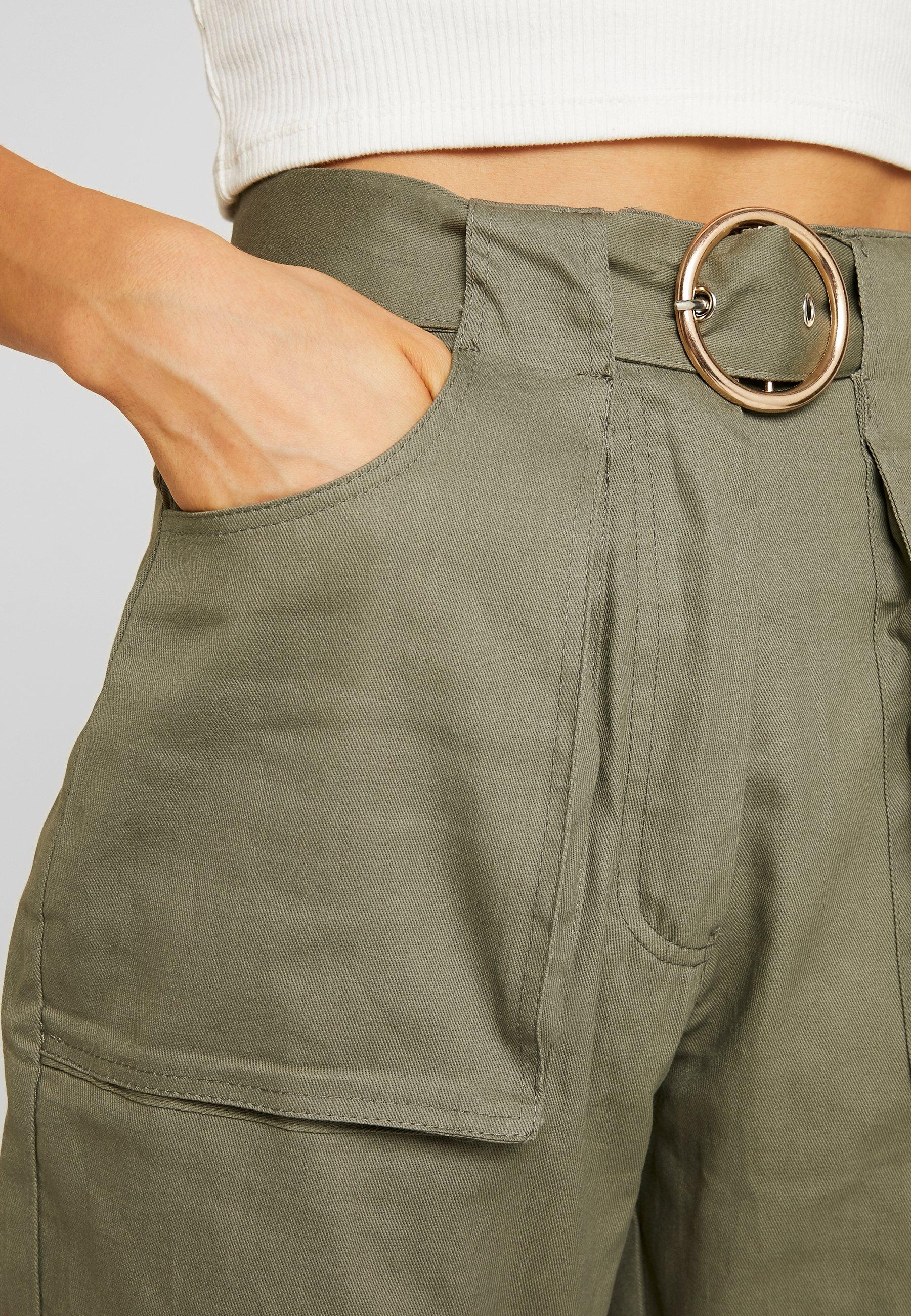 Belt CigarettePantaloni Missguided Circle Pocket Khaki qzVUMSp