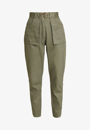 POCKET CIRCLE BELT CIGARETTE - Pantaloni - khaki