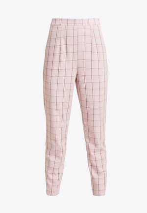 CHECK CIGARETTE TROUSER - Trousers - pink