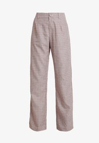 Missguided - PURPOSEFUL CHECKED SPLIT HEM TROUSERS - Trousers - purple - 5